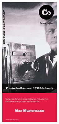 Gutschein Fotokurs Berlin im Kollodium Nassplatten Verfahren